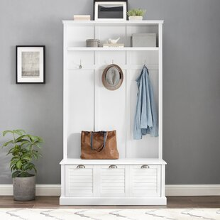 Hall Tree With Bench Seat Seat Seat Entryway Foyer Mudroom Storage Solution 3 Finishes b9ad32