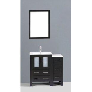 Danville 37 Single Bathroom Vanity Set with Mirror by Bosconi