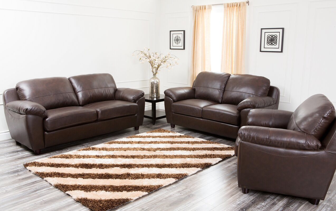Bartholomew 3 Piece Leather Living Room Set Part 94