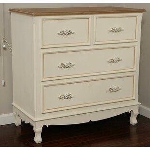 Aubree Wooden 4 Drawer Dresser