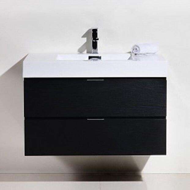 Wade Logan Tenafly 36 W X 19 D X 24 Hwall Mounted Single Bathroom Vanity Set Reviews Wayfair