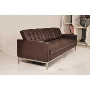 Kaius Leather Standard Sofa by Orren Ellis