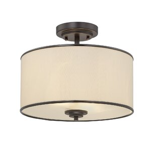 Laurie 2-Light Semi Flush Mount by Three Posts