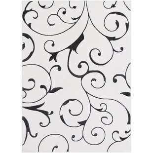 Buy Bridgnorth Paisley Charcoal/White Area Rug By Fleur De Lis Living