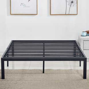Caenas Heavy Duty Steel Slat/Metal Bed Frame by Symple Stuff Sale
