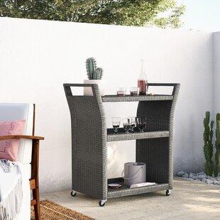 Brandy Outdoor Bar Serving Cart by Mistana