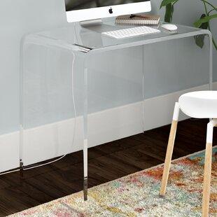 Channing Plastic/Acrylic Writing Desk by Mercury Row