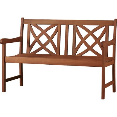 Maliyah Solid Wood Garden Bench by Andover Mills