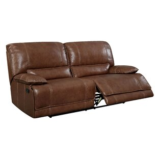 Dupree Leather Reclining Sofa 17 Stories