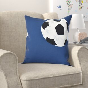 Bauer Soccer Ball Outdoor Throw Pillow