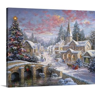 heaven on earth painting print on wrapped canvas - Christmas Wall Art Decor