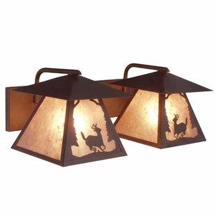 Steel Partners Prairie Deer 2-Light Vanity Light