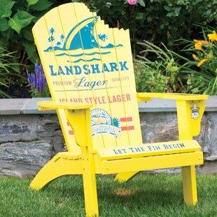 Landshark Solid Wood Adirondack Chair
