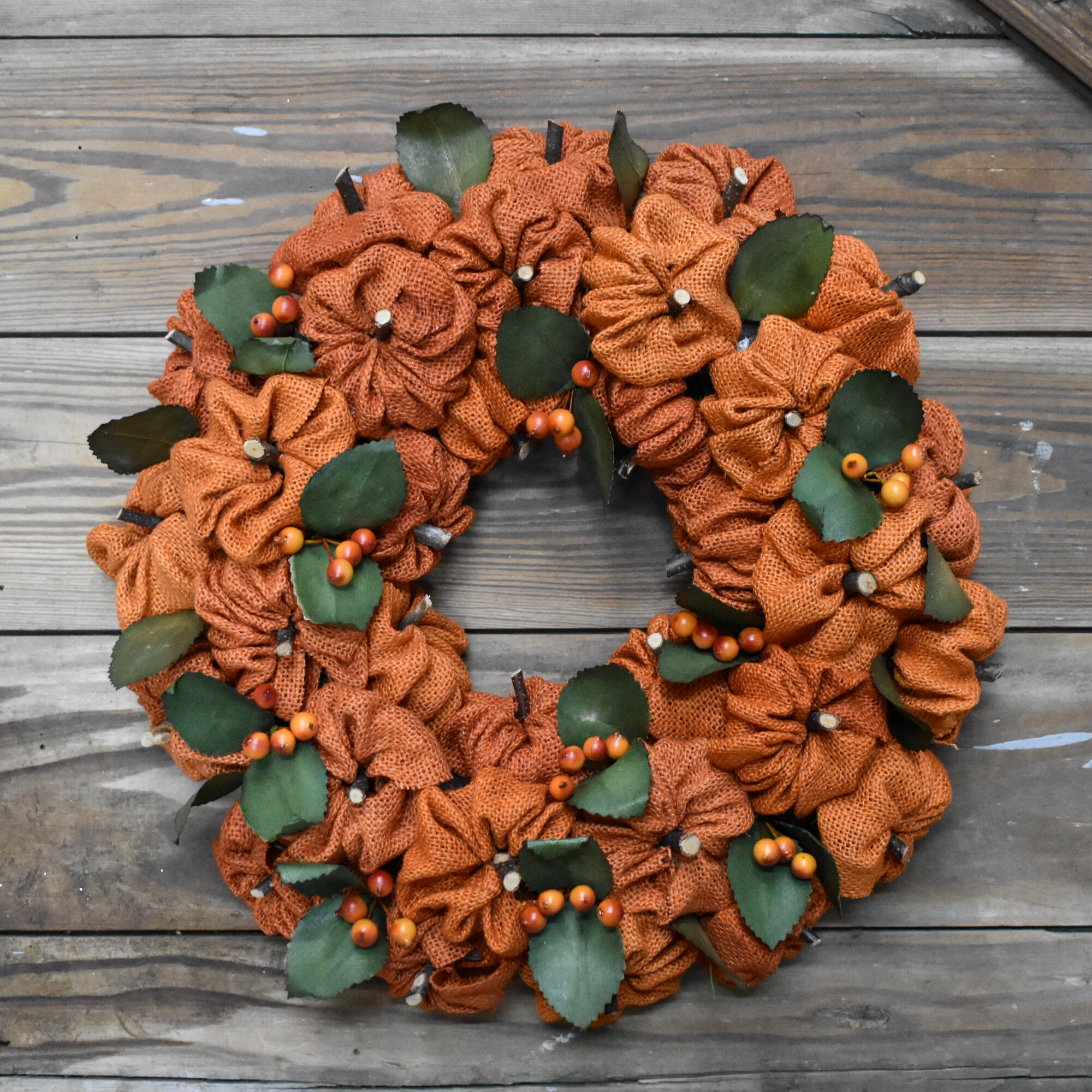 August Grove Burlap Pumpkin Wreath Reviews