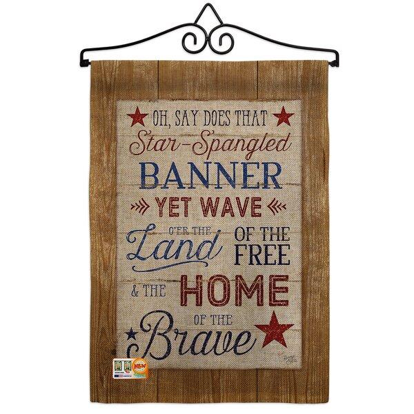 Breeze Decor Star Spangled Pride American Patriotic 2 Sided Burlap 19 X 13 In Garden Flag Wayfair