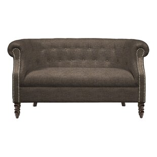 Shop Huntingdon Chesterfield Loveseat by Three Posts
