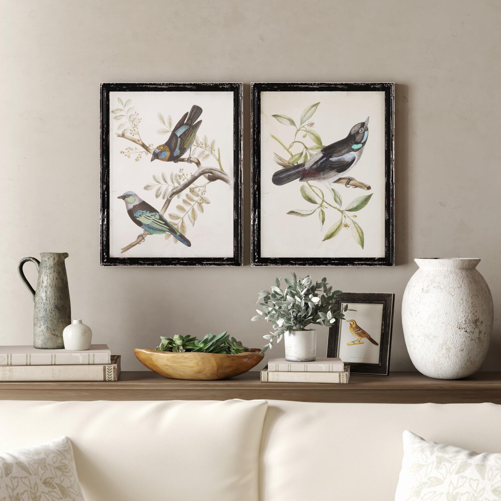 Bird 2 Piece Picture Frame Print Set On Paper Reviews Birch Lane