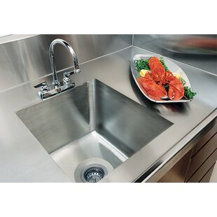 A-Line by Advance Tabco Integral Single Bowl Kitchen Sink