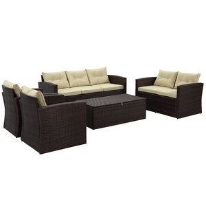 Garmon 5 Piece Seating Group with Cushion