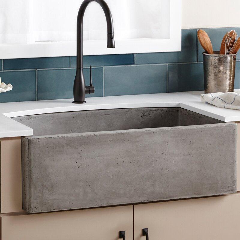 "Farmhouse Kitchen Sinks native trails 33"" x 21"" farmhouse kitchen sink & reviews | wayfair"