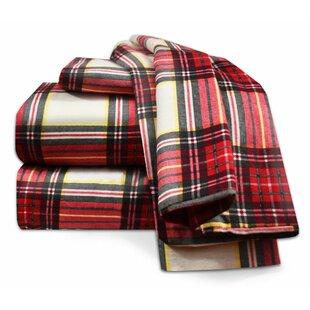 100% Egyptian-Quality Cotton Flannel Sheet Set
