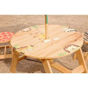 Purchase Kids 3 Piece Round Writing Table and Chair Set ByFantasy Fields