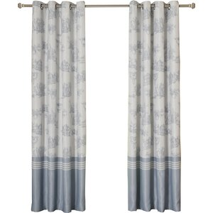 French Toile Blackout Curtain Panels (Set of 2)