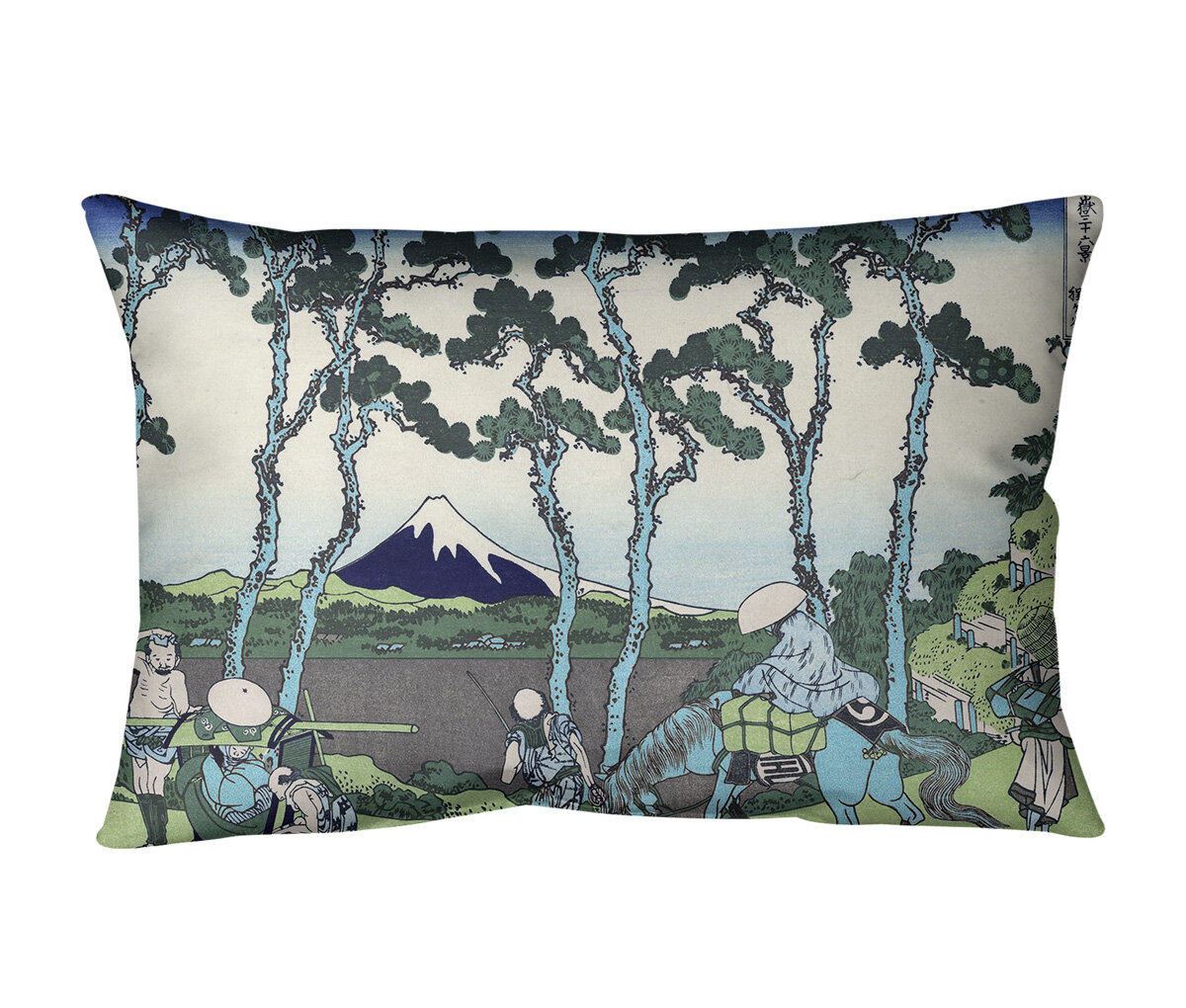East Urban Home Hodogaya On The Tokaido Linen Lumbar Pillow Wayfair