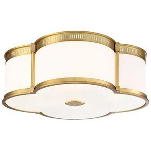 Everly Quinn Surbit 1-Light LED Flush Mount