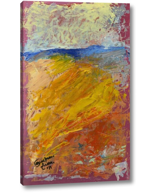 Ebern Designs Abstract Color Yellow Field Island Italy By Gianfranco Zucca Giclee Art Print On Wrapped Canvas Wayfair