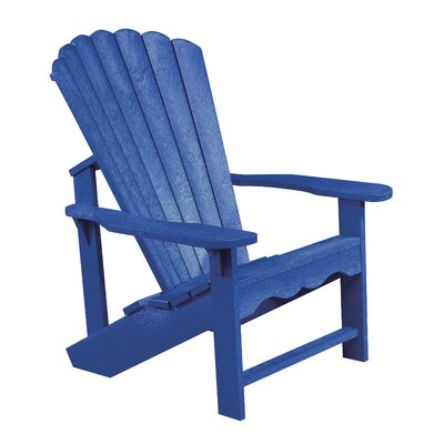 Alanna Plastic Adirondack Chair Color: Blue by Beachcrest Home