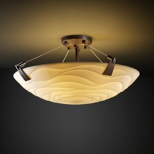 Mistana Thora 6-Light Square Bowl Semi Flush Mount