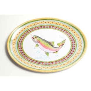 Yacht And Home Trout Melamine Oval Platter by Galleyware Company #1