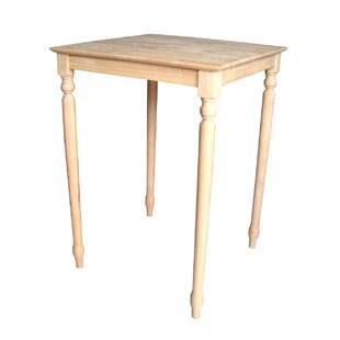 Turned Leg Bar Height Pub Table by International Concepts