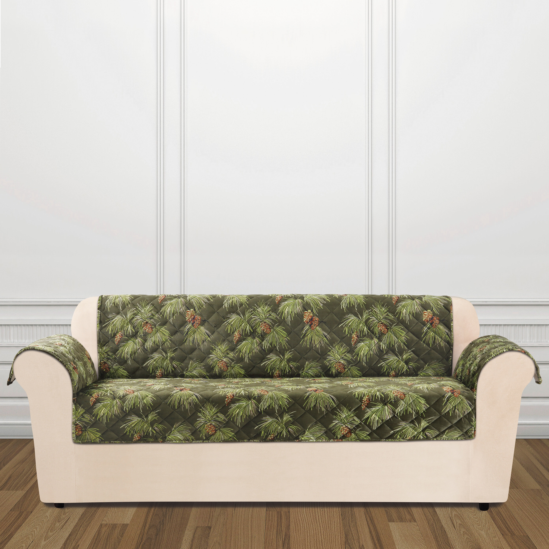 Sure Fit Lodge Pinecone Box Cushion Sofa Slipcover U0026 Reviews | Wayfair