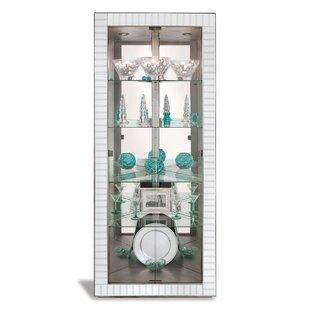 Philip Reinisch Co. Halo Lighted Corner Curio Cabinet