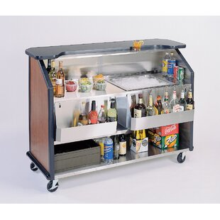 Portable Stainless Steel Beverage Kitchen Island with Laminate Top