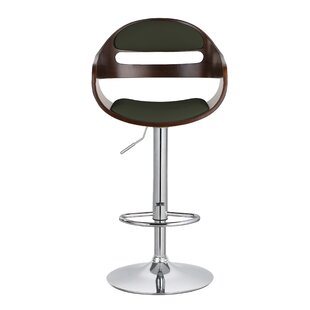 Carlos Upholstered Adjustable 32.9 Swivel Bar Stool Corrigan Studio