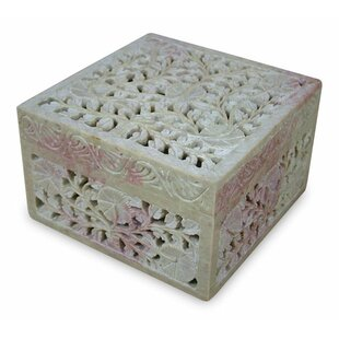 Where buy  Soapstone Poppies Jewelry Box By Bloomsbury Market