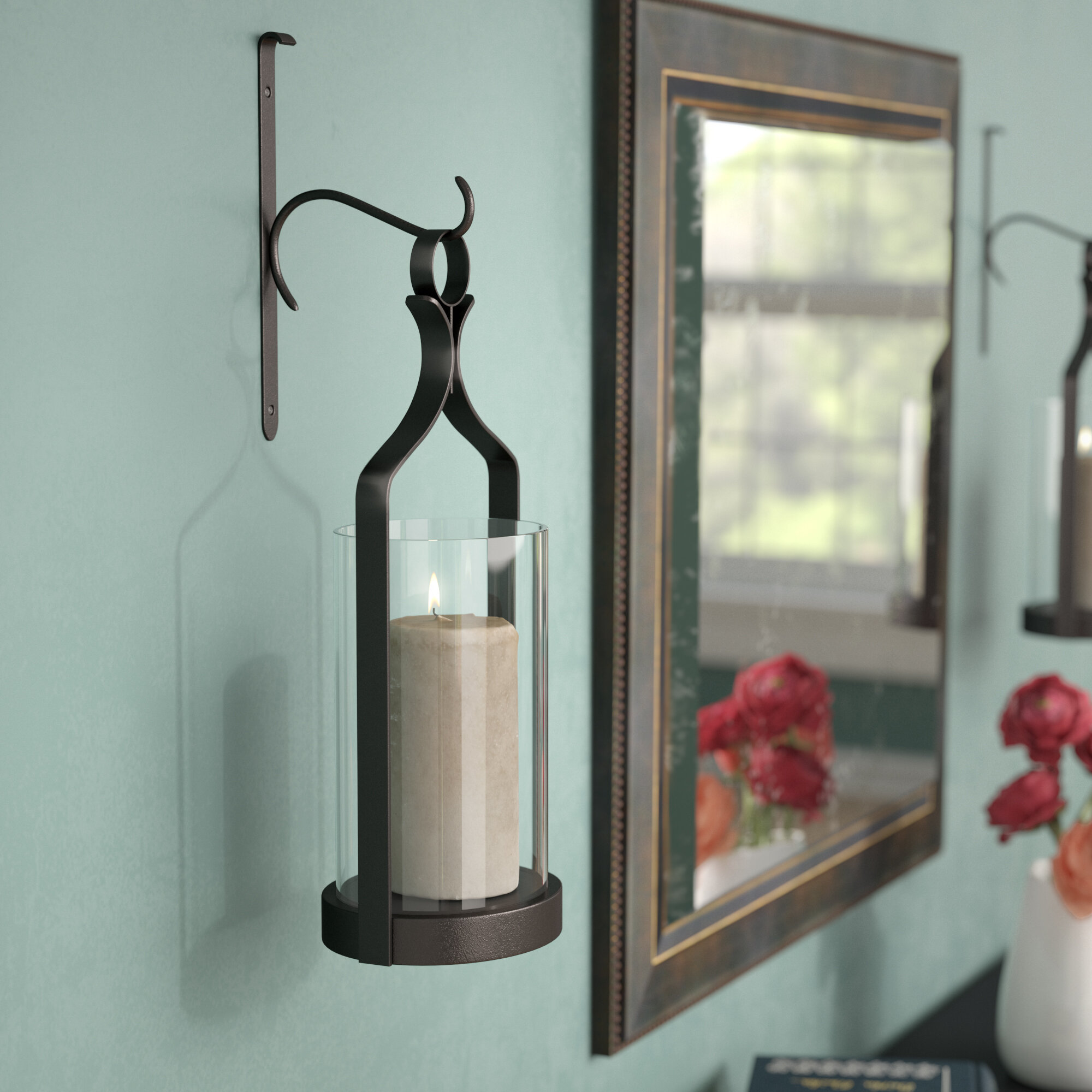 Great Three Posts Glass Wall Sconce U0026 Reviews | Wayfair