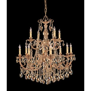 House of Hampton Aureolin 12-Light Crystal Chandelier