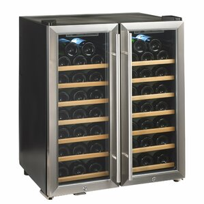 48 Bottle Silent Series Dual Zone Freestanding Wine Cooler by Wine Enthusiast