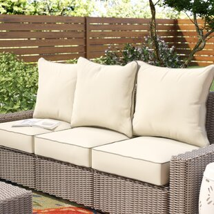Beachcrest Home 6 Piece Piped Indoor/Outdoor Sunbrella Sofa Cushion Set