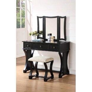 Infini Furnishings Eveline Vanity Set with Mirror