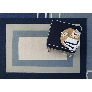 Hamptons Highview Hand-Hooked Slate/Navy Indoor/Outdoor Area Rug