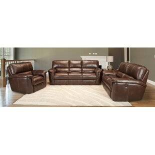 Blair Reclining Leather Configurable Living Room Set by Red Barrel Studio