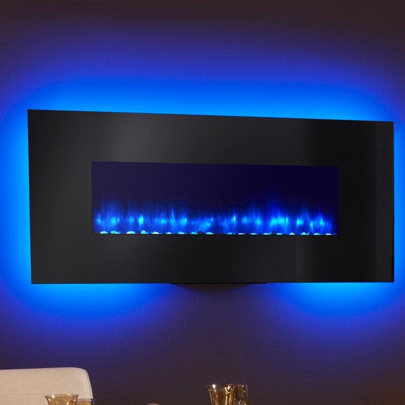 Simplifire Linear Wall Mount Electric Fireplace & Reviews | Wayfair