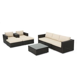 Orren Ellis Lucrezia 8 Piece Sectional Set with Cushions