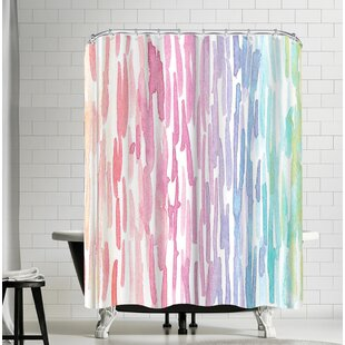Victoria Nelson Rainbow Abstract Single Shower Curtain