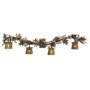 Meyda Tiffany Oak Leaf Valley View 4-Light Vanity Light